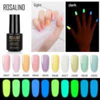 Светящийся в темноте лак для ногтей, флуоресцентный.