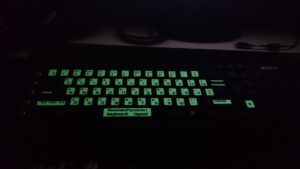 Флуоресцентные наклейки на клавиатуру с русскими буквами, наклейки для ноутбука, компьютера, ноутбука, русские светящиеся буквы
